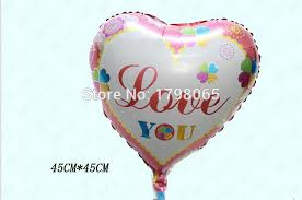 valentines balloons wholesale 18 inch i you laser 45 45cm foil balloon party