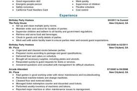Hostess Resume Example by Entertainment Resume Format Reentrycorps