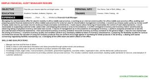 internal audit manager resume objective the best sites to post