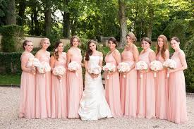 blush bridesmaid dress brides bridesmaids photos nine blush bridesmaid dresses