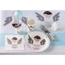 assiette jetable mariage assiette jetable baptême ange lot de 10 un jour spécial