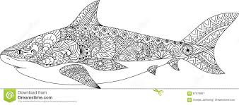 shark art design coloring book tattoo shirt