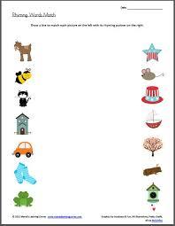 rhyming word worksheet worksheets
