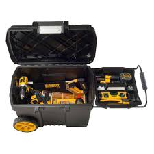 new dewalt portable rolling toolbox tools chest cabinet storage