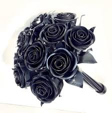 metal roses 11th anniversary gift 11 steel bouquet metal bouquet
