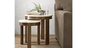 crate and barrel nesting tables outstanding small side table pastis small side table crate and