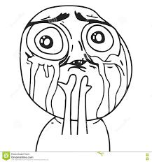 O Meme Face - vector sad guy meme face for any design eps 10 stock vector