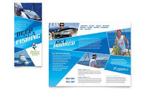 fishing charter u0026 guide brochure template design
