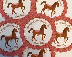 Horse Birthday Decorations Horse Party Favors Etsy