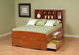 bookcase headboard twin oak cremona brown casual bedroom set twin