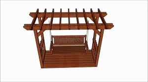 pergola with swing plans youtube