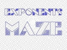 laws of exponents fun review game maze rules of exponents tpt