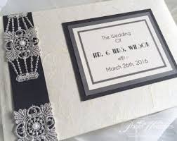 black wedding guest book 1920 s guest book etsy