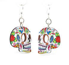 green tree earrings profile sugar skulls earrings by green tree jewelry made in the