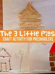 3 pigs craft activity preschoolers