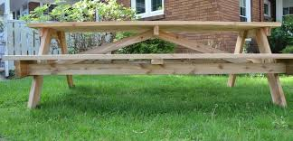 innovative 8 picnic table 8 foot picnic table plans furniture