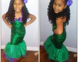 Mermaid Halloween Costume Toddler Mermaid Birthday Etsy
