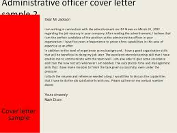Sle Cover Letter Administrative Officer Advantages Of Study Essay High School Essay Contest 2005