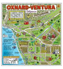 Map Of Southern Usa by Oxnard California The Cartoon Map Capital Of The World Fun