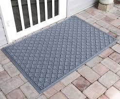 rubber door mat with grid design water glutton cordova 34x52