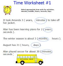 units of time worksheets free worksheets library download and