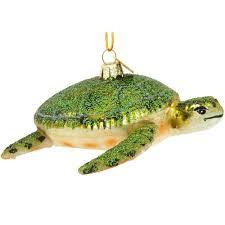 glass sea turtle ornament bronner s