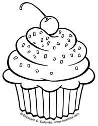 coloring page cupcake color pages coloring page cupcake color
