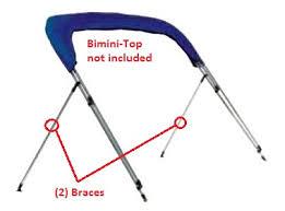 purchase alum bimini top strut braces alum carver from rnr marine