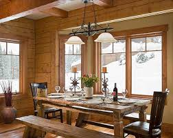 comfortable rustic dining room table decor about furniture home