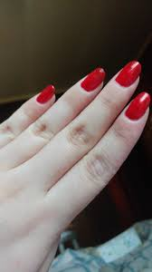 classic candy apple red nails using la colors foxy gel like polish
