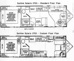 custom floor plans floor plans stock and custom 2003 sunline travel trailer