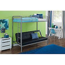 Essential Home Black Payton Twin Over Futon Bunk Bed - Essential home bunk bed
