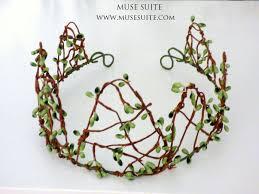 elf crown green branch forest tiara unic piece elven crown
