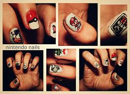 i swear i saw sonic on a nail but whatever nintendo nails nail