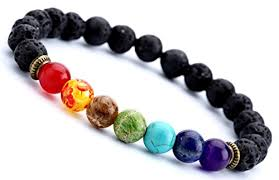 men beads bracelet images Hamoery men women 8mm lava rock 7 chakra diffuser bracelet elastic jpg