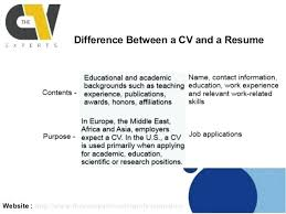 cv vs resume the differences curriculum vitae resume difference difference resume and