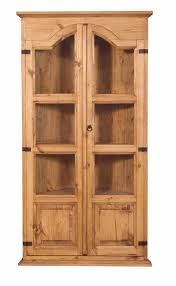 fetching rustic pine curio cabinets wood media storage free