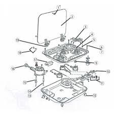 ricambi piano cottura fissaggio per piani cottura smev serie 8000 ricambi griglie e