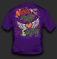 nursing shirts nurses earn their wings everyday sleeve t shirt by sweet