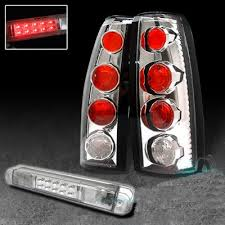 Chevy Silverado 1994 1998 Clear Tail Lights And Led Third Brake