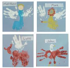 4 gospels craft u2013 handprint style