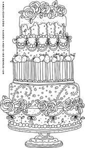 coloring pages cake coloring