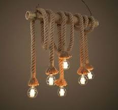 Nautical Ceiling Light Industrial Pendant L Retro Vintage Edison Nautical Manila Rope