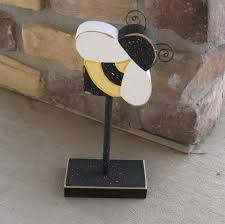 bumble bee decor tall standing bumble bee block for bee decor