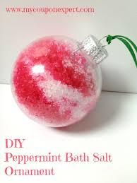 frugal gifts diy peppermint bath salt ornament