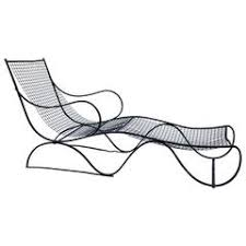 Wrought Iron Chaise Lounge Triconfort Outdoor Chaise Longue French 1960s At 1stdibs