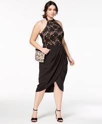 halter dress city chic trendy plus size portia faux wrap halter dress