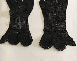 vintage black vintage gloves mittens etsy