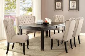 Wingback Dining Room Chairs Cm3324bk T Dining Table In Antique Black Finish W Options