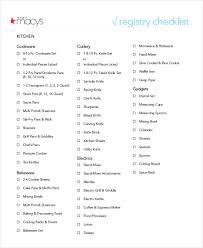 wedding registry list simple wedding checklist 20 free word pdf documents